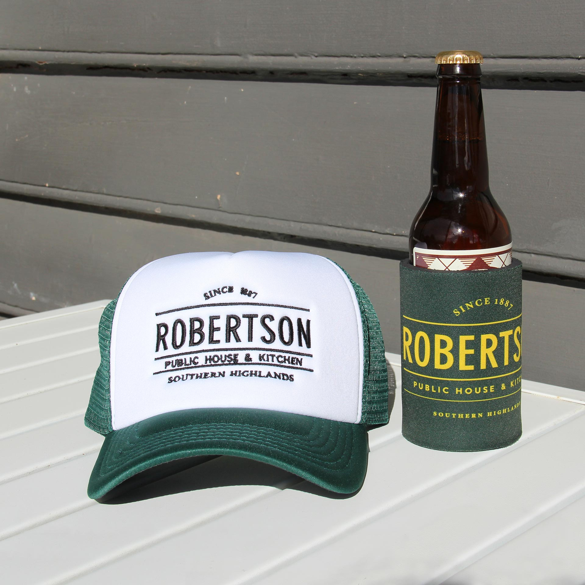 Green Cap and Stubby Holder