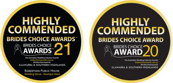 Brides Choice Awards for Weddings at Robertson Pub